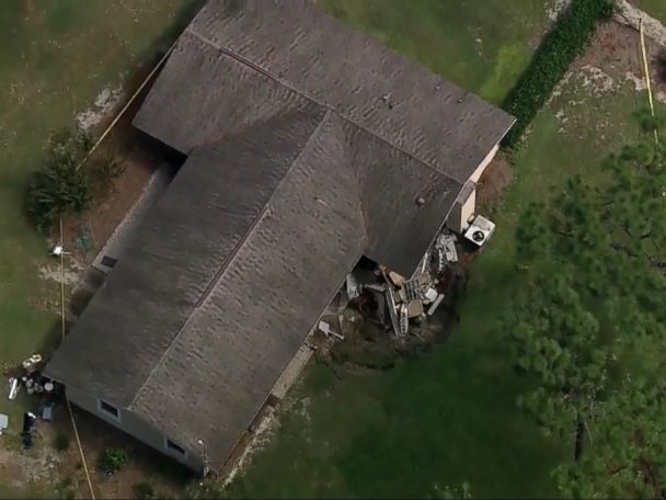 WATCH:  Sinkhole swallows part of Florida home