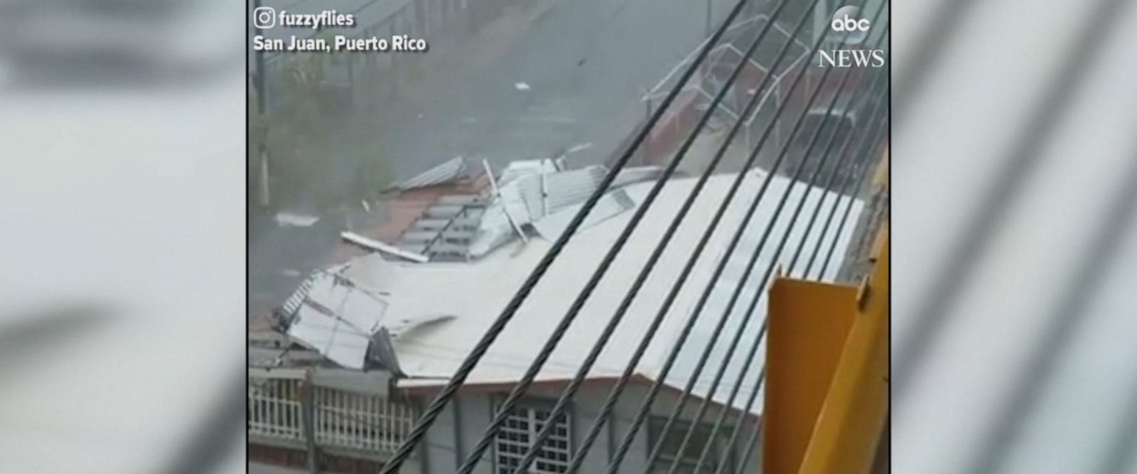 Hurricane Maria bore down on San Juan, Puerto Rico, ripping off buildings' roofs.