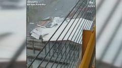 Hurricane Maria bore down on San Juan, Puerto Rico, ripping off buildings roofs.