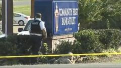 The 54-year-old suspect entered the bank with a machete, police said.