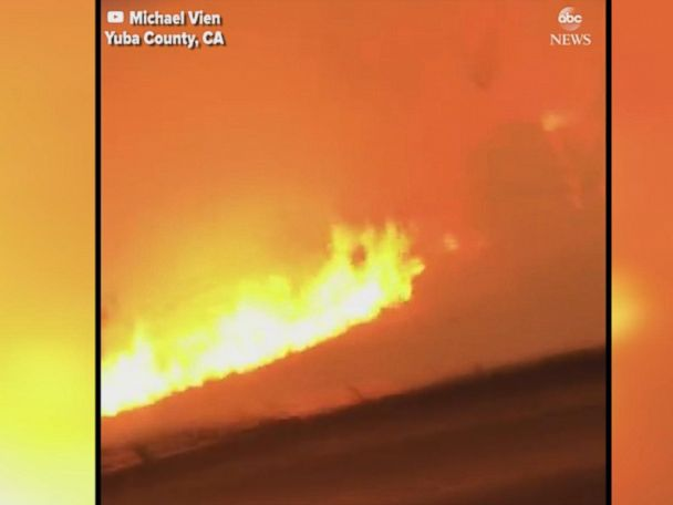 WATCH:  2 men film their narrow escape from raging California wildfire
