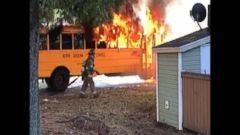 VIDEO: Students escape as school bus bursts into flames