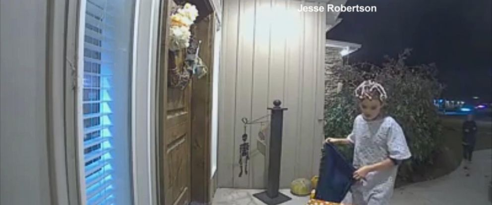 VIDEO: Kid from viral Halloween trick video found
