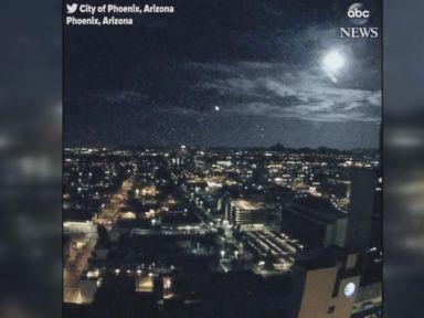 WATCH:  Meteor lights up Phoenix sky overnight
