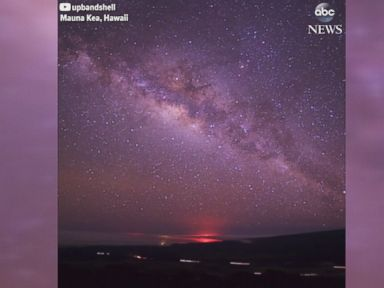 WATCH:  Time lapse captures stunning view of the night sky in Hawaii