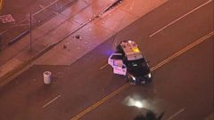 VIDEO: Two minors were killed when five people were hit by a police cruiser.