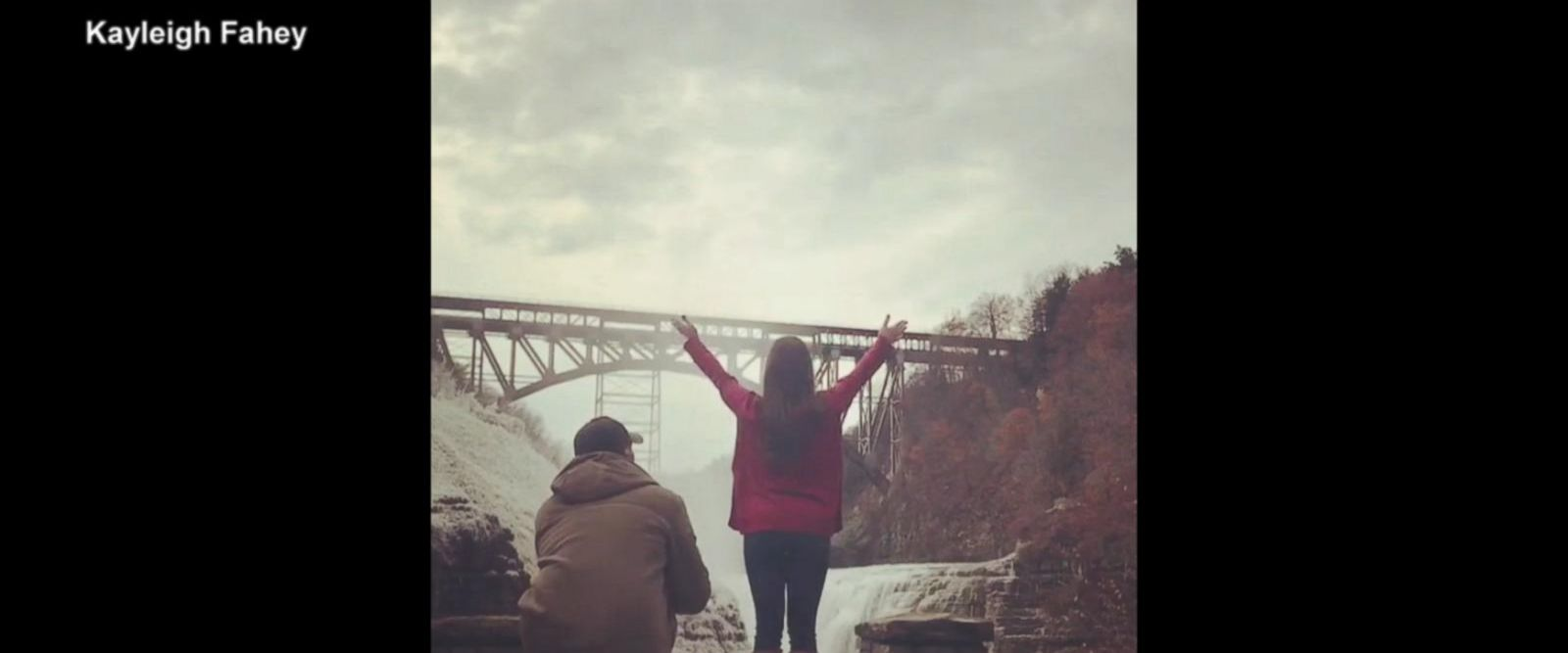 VIDEO: Woman who thinks she's taking a photo gets picture-perfect proposal