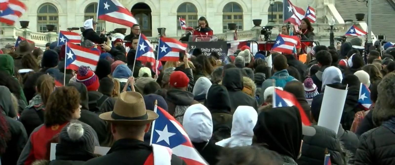 VIDEO: Unity March for Puerto Rico held Sunday in nation's capital