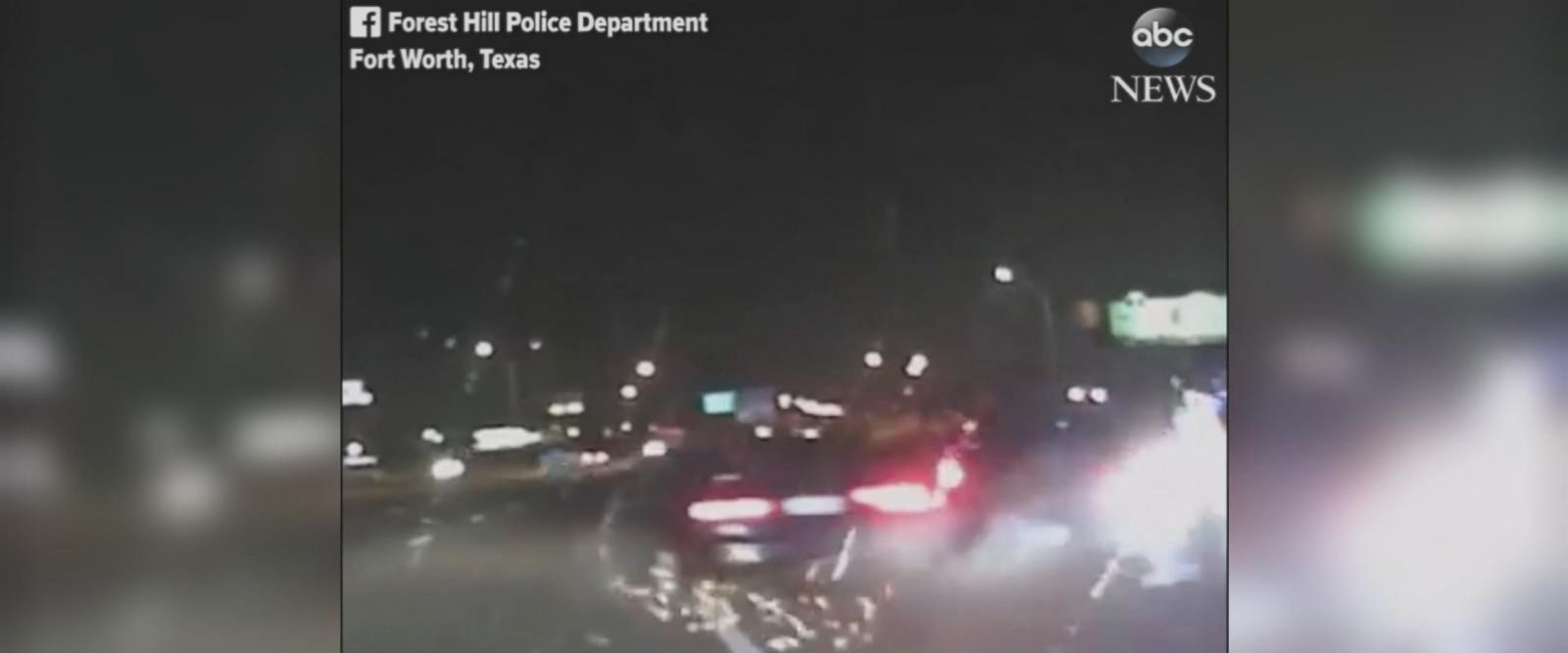 This harrowing video shows police officers in Fort Worth, Texas, narrowly escaping serious injury when an alleged drunk driver nearly crashed into them at top speed.