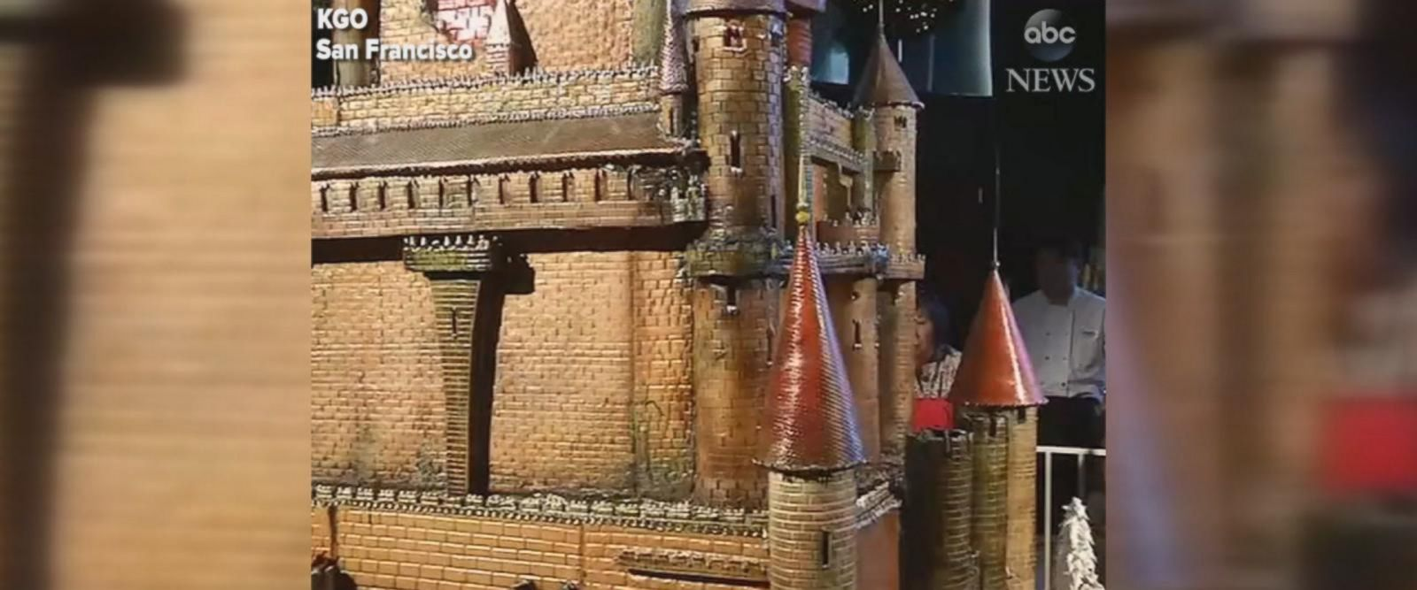 VIDEO: San Francisco hotel unveils giant sugar castle