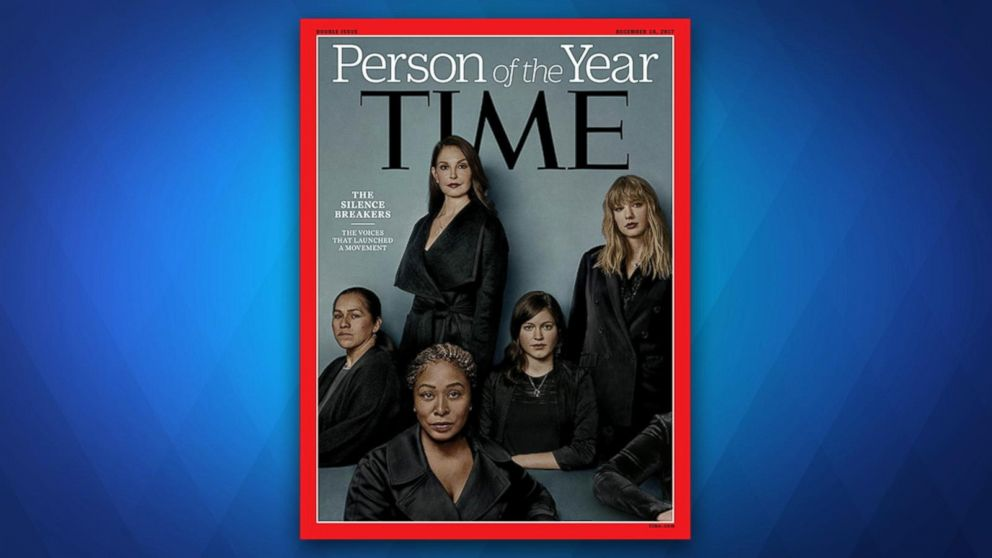 Time  magazine's  person  of  the  year : 'Silence breakers' of #MeToo movement