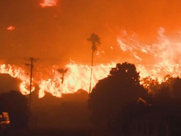 WATCH:  A landscape of fire in California
