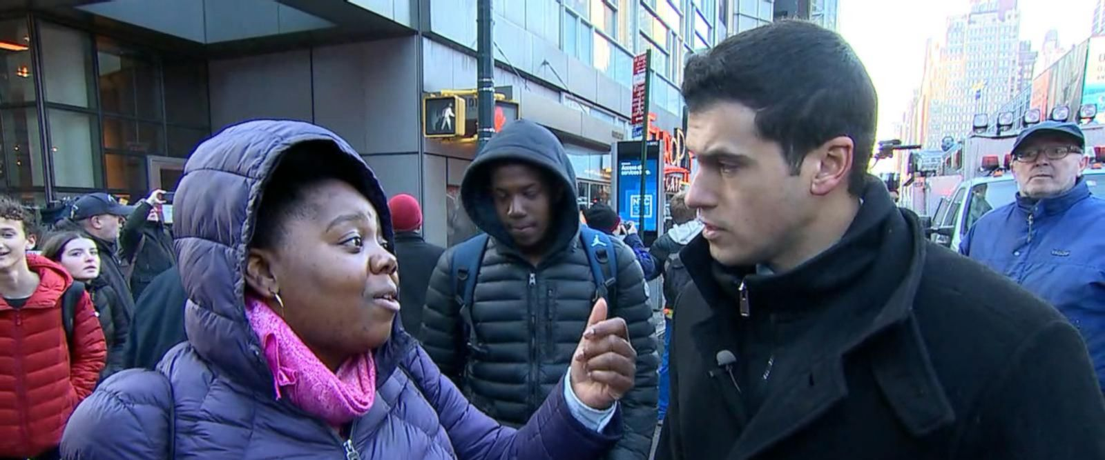 VIDEO: Christina Bathea was on-time to make her 7:30 a.m. start-time at her security guard job next to the Port Authority Bus Terminal Monday morning.