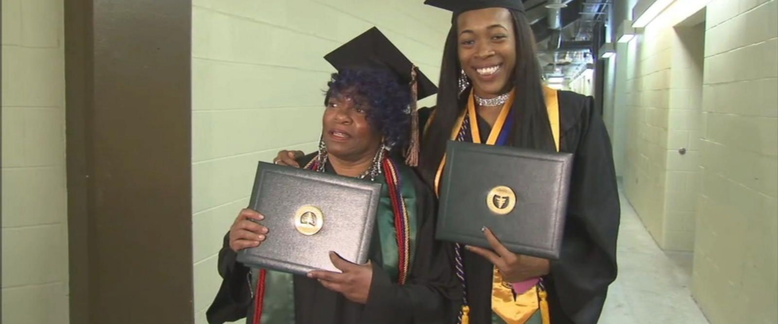 VIDEO: Grandmother and her granddaughter graduate college together