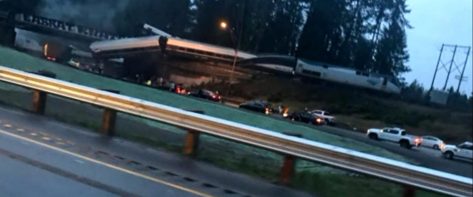 """VIDEO: According to the Pierce County Sheriff's Office, there were """"injuries and casualties"""" in the incident but it was not clear how many or how severe."""