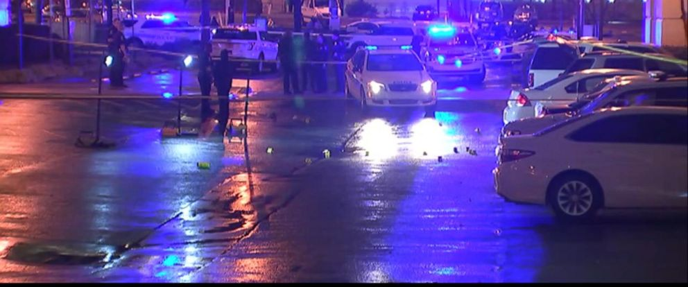 VIDEO: According to police, Jonathan Bennett, 23, drove into the parking lot outside the police department at about 11 p.m. and opened fire on a group of officers.