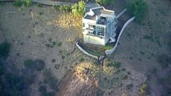 VIDEO: A luxury home in Malibu appears at risk after recent mudslides.
