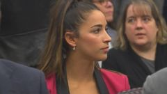 Olympic gymnastics star Aly Raisman showed up in a Michigan courtroom Friday to face down Larry Nassar, the former doctor who molested her and scores of other elite female athletes.