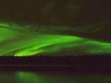 WATCH:  Northern Lights dazzle over Alaska sky