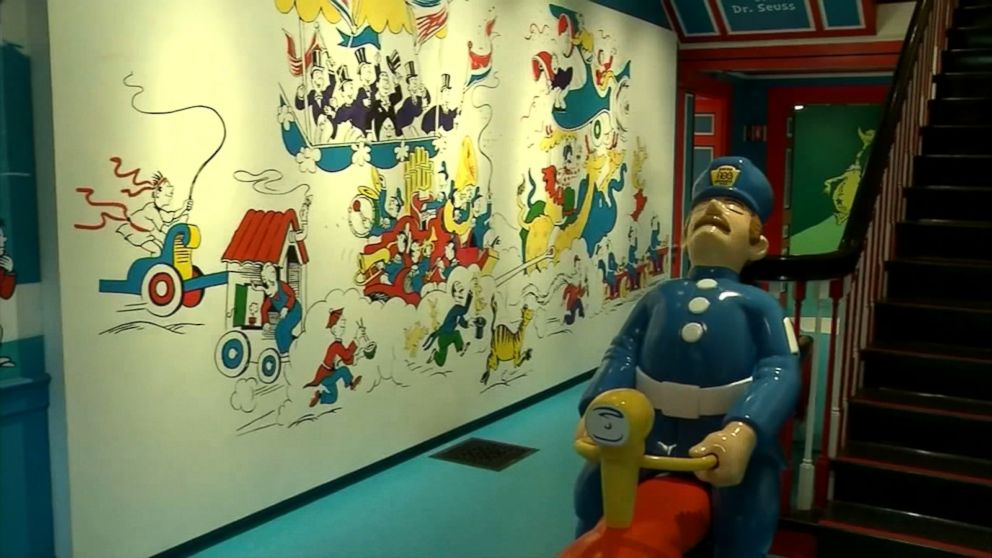 Controversial mural replaced at dr seuss museum video for Dr seuss mural