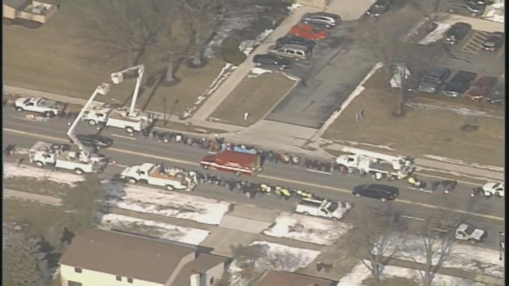 Procession held for fallen Ohio officers