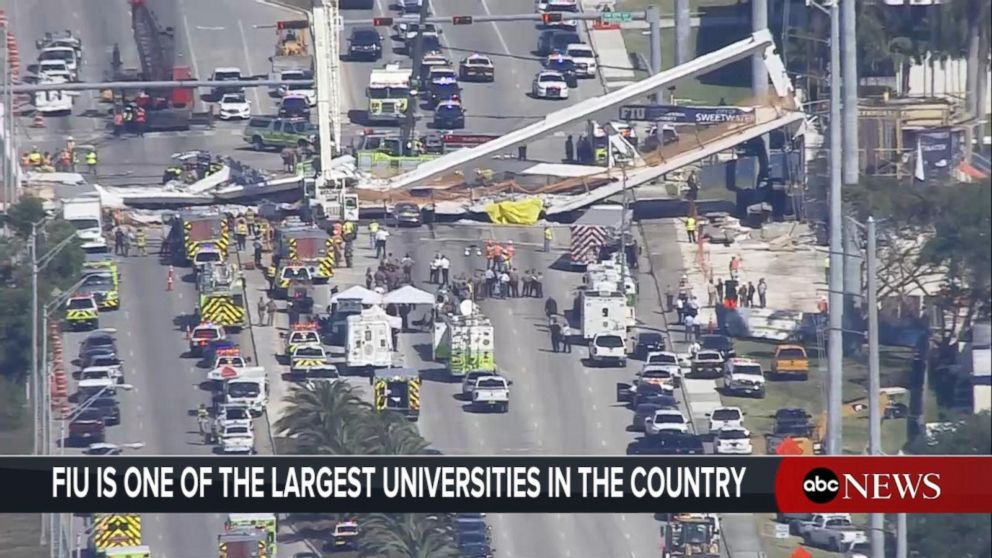 Miami pedestrian bridge collapses, fatalities confirmed