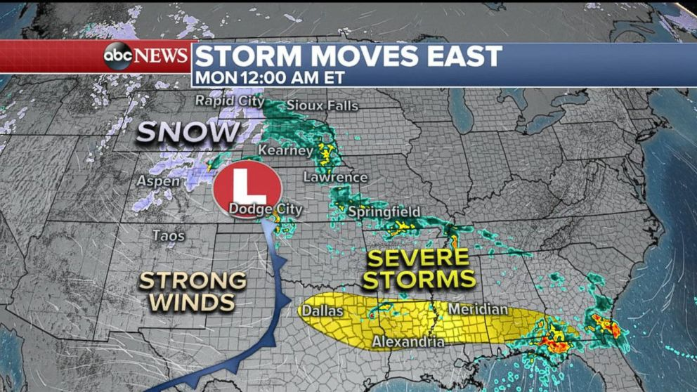 Storm  system to bring severe weather to South
