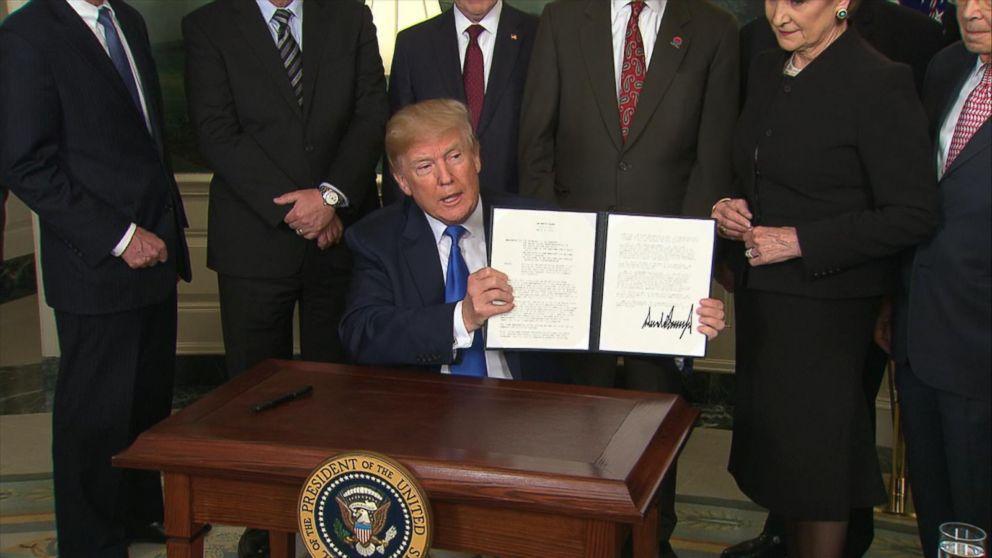 Trump signs action imposing tariffs on China