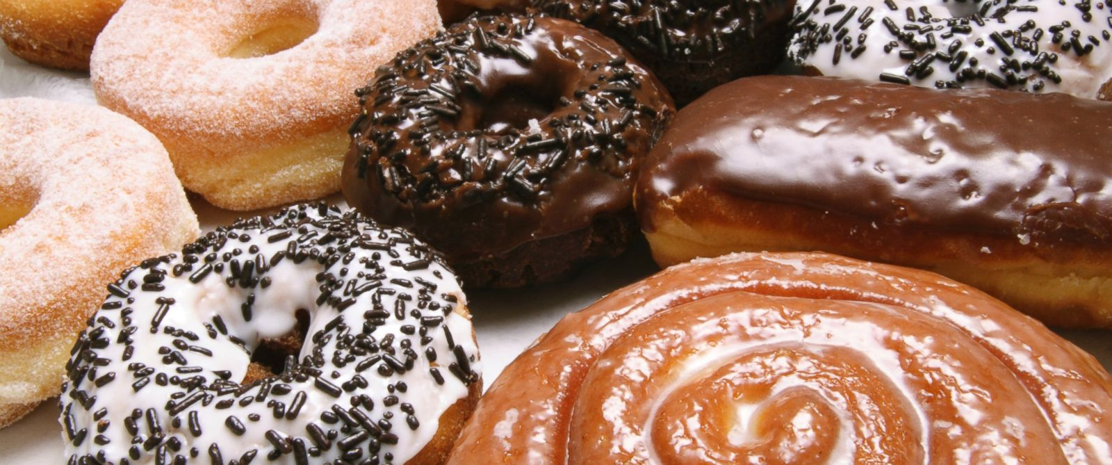 PHOTO: A variety of doughnuts is shown.