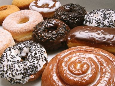 PHOTO: A variety of doughnuts are shown.