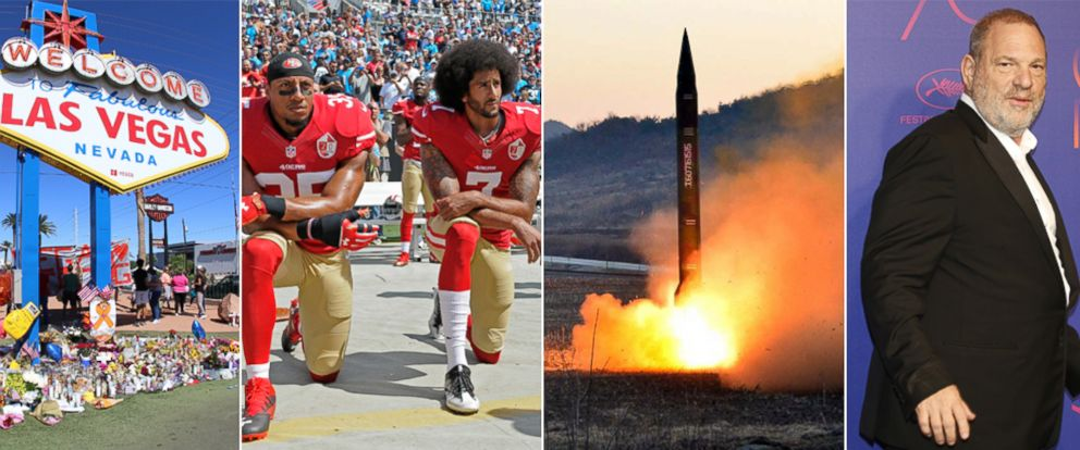 PHOTO: There were some big events in 2017, from Donald Trump's presidential inauguration to North Korea's numerous missile tests.