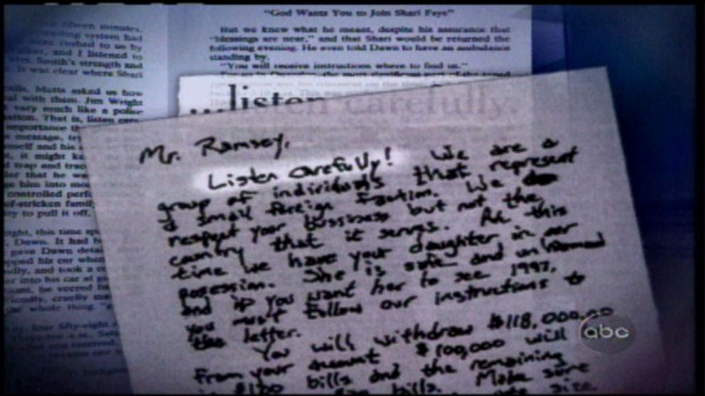 VIDEO: Clues in the ransom note left after the 6-year-olds murder may point to Patsy Ramsey as its author.