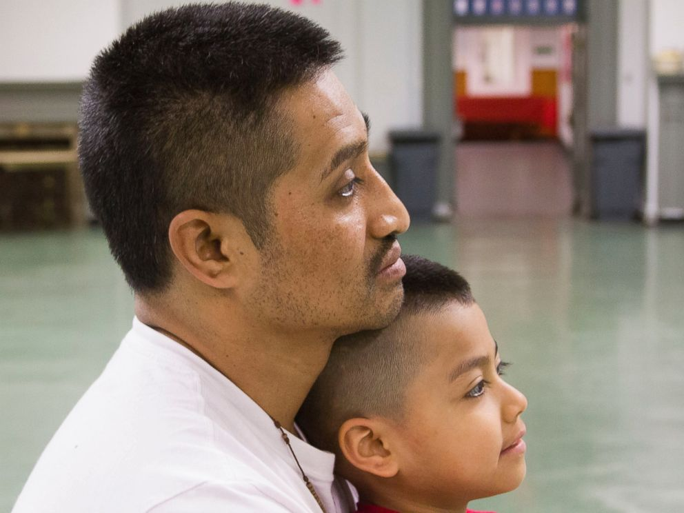 PHOTO: Javier Flores Garcia, and his son, Javier, have been living in Arch Street United Methodist Church since Nov. 13, 2016. Garcia said he entered sanctuary to avoid being detained and deported back to Mexico again. <p itemprop=