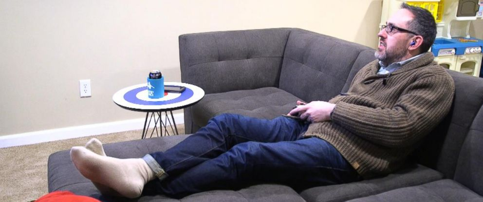PHOTO: Chris often spends his entire day in his basement playing video games.