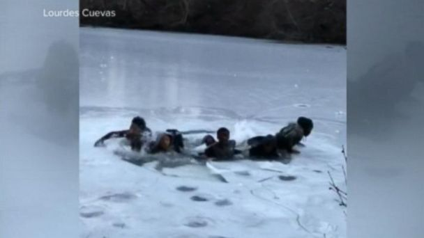 PHOTO: Ethan Turnbull, 24, and Bennett Jonas, 23, are credited with pulling seven strangers to safety from a frozen pond in New York City's Central Park.