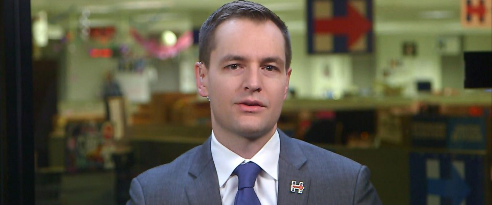 "PHOTO: Hillary Clinton campaign manager Robby Mook appeared on ""Good Morning America,"" Nov. 7, 2016."