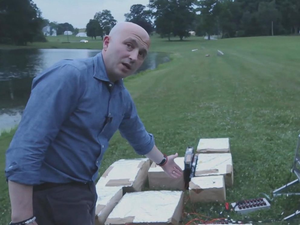PHOTO: Stephen Vitale, CEO of Pyrotecnico, is pictured with 4th of July fireworks.