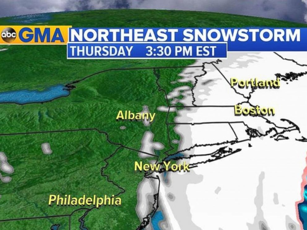 Snow expected for much of Thursday