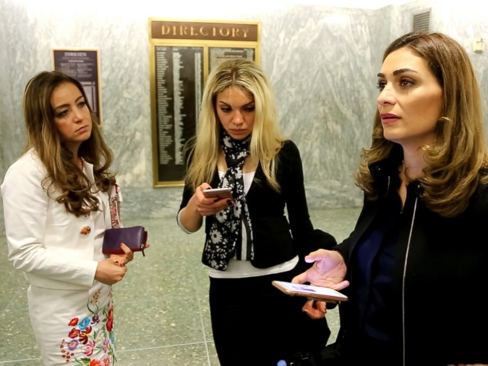 PHOTO: A delegation of Syrian women were visiting Washington, D.C. on April 26 to lobby support for civil society in their home country and its future.