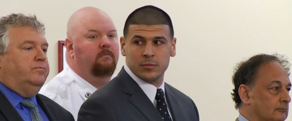 PHOTO: Former NFL player Aaron Hernandez listens during the reading of his verdict at the Bristol County Superior Court in Fall River, Massachusetts, April 15, 2015.