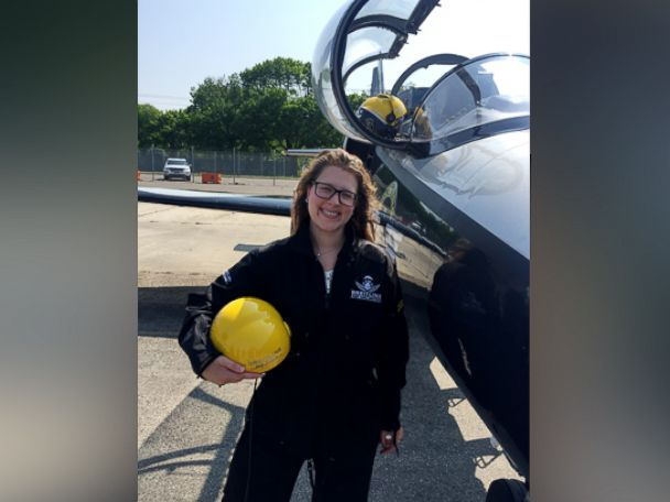 PHOTO: Morgan Korn survived the 25-minute flight over the Long Island Sound.