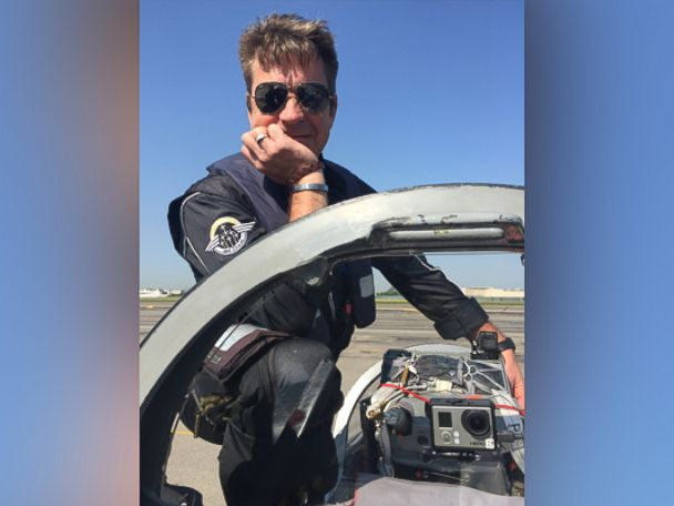 PHOTO: Pilot Christophe Douky Deketelaere, a former pilot with the French Air Force, has been flying with Breitling for more than a decade.