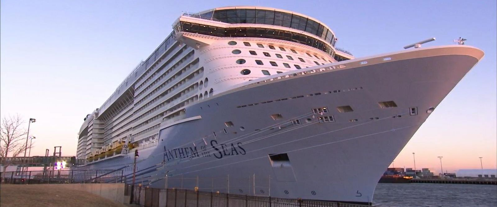 "PHOTO: Passengers aboard Royal Caribbeans Anthem of the Seas tell ""GMA"" what it was like as the boat traveled through hurricane-force winds."