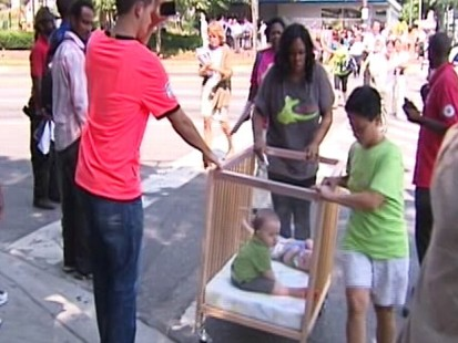 Video: Kids evacuated from Discovery building after shots fired.