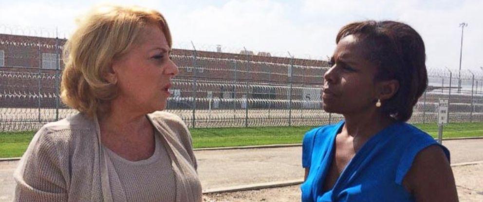 PHOTO: Nancy Styler, who was a former suspect in the murder of Aspen philanthropist Nancy Pfister, talks to ABC News Deborah Roberts.