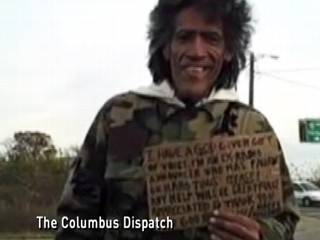 Homeless man with a voice of God
