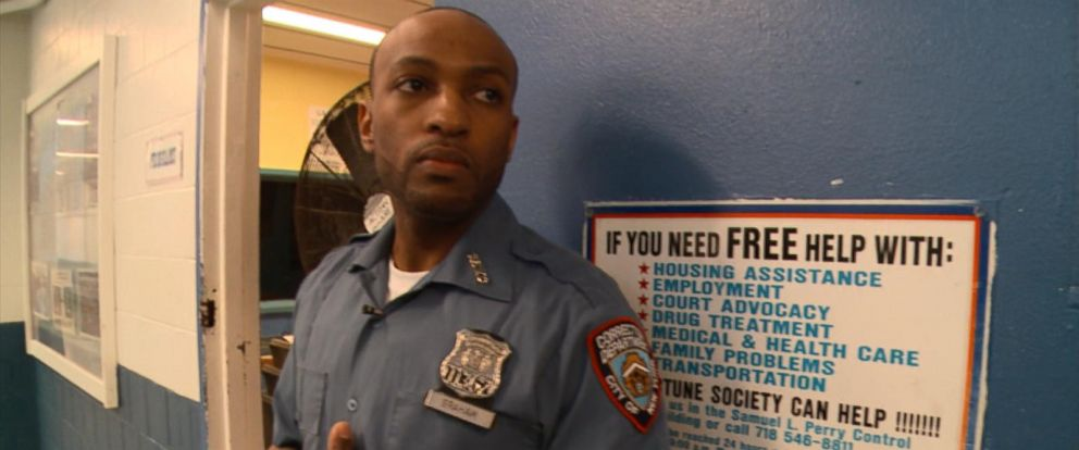 PHOTO: Officer Graham is a corrections officer at Rikers Island.