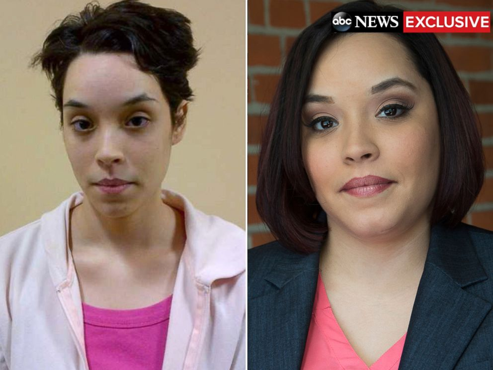 PHOTO: Gina DeJesus is pictured here after police rescued her, left, and today.