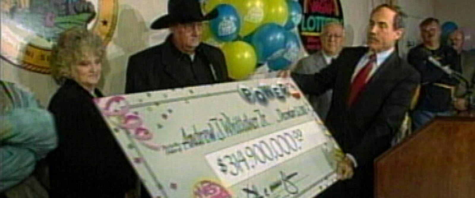 PHOTO: Powerball lottery winner Andrew Jack Whittaker, who is holding a check for $314.9 million, and his wife Jewell of Scott Depot, W. Va., shown in this undated photo.