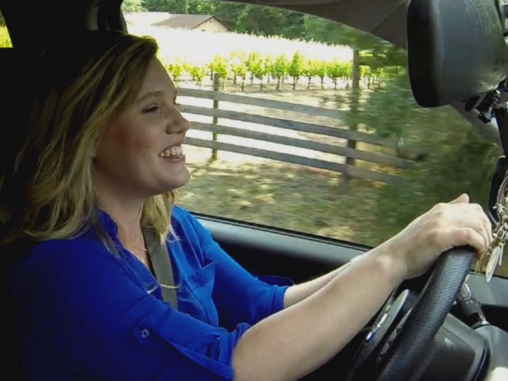 Jaycee Dugard, shown here driving a car, got her driver's license at ...